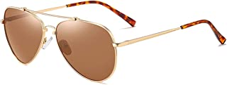 نظارة شمسية افياتور مستقطبة توفر حماية من الاشعة فوق البنفسجية 400 من ماكس جولي للجنسين - 8061