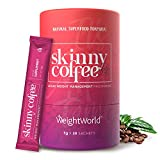 Skinny Coffee, Café Instantáneo Control del Peso Programa de 28 días - Café Árabe, Granos Café Verde, Ginseng, Chlorella, Polvo Matcha y L-Carnitina, Café Quemagrasas Para Adelgazar, Vegano