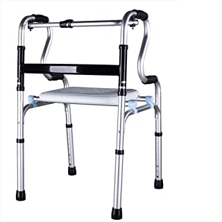 Asdfnfa Medical Walker - Safety Handrail - Four-Legged Cane - with Wheels and Without Wheels Interchangeable - One-Button ...