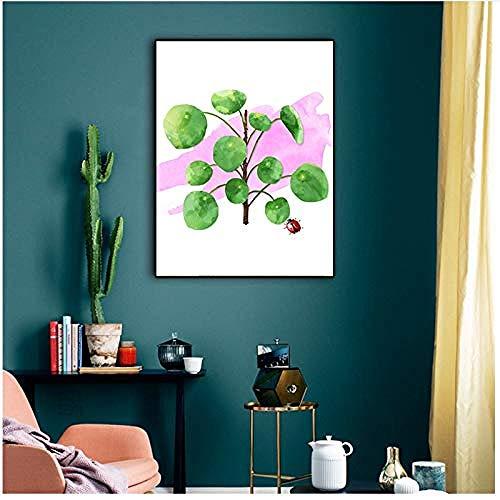 Canvas print,Kid slaapkamer decor cartoon plant insect schilderij kunst poster op muur woonkamer foto-40x50cm