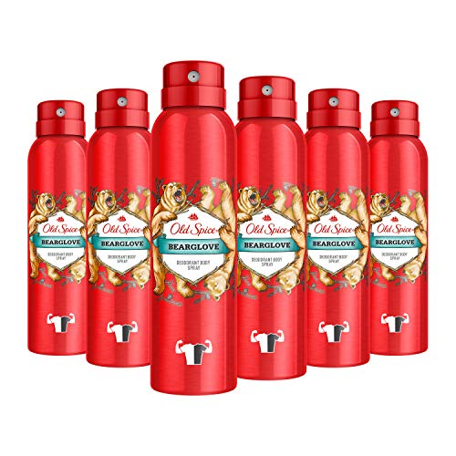 Old Spice Bearglove Lot de 6 déodorants pour homme 6 x 150 ml