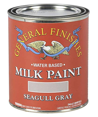 General Finishes Water Based Milk Paint, 1 Quart, Seagull Gray