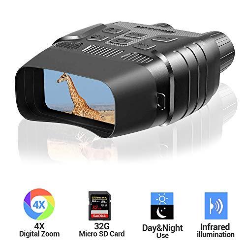 Night Vision Binoculars Digital Infrared Camera Large Viewing Screen HD Image and 960P Video Night Vision Goggles with 32G TF Card for Hunting & Military HHY