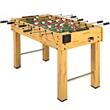 Best Choice Products 48in Competition Sized Wooden Soccer Foosball Table w/ 2 Balls, 2 Cup Holders for Home,...