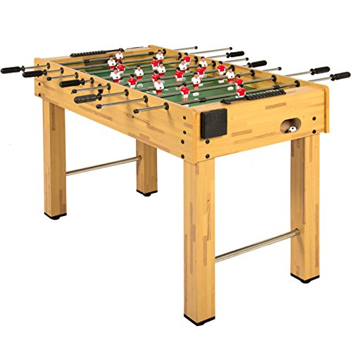 Best Choice Products 48-Inch Competition Sized Foosball Table w/ 2 Balls, 2 Cup Holders, Natural Michigan