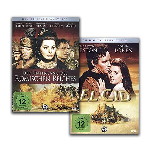 El Cid / Der Untergang des Römischen Reiches – Monumentalfilme Klassiker [2 DVD-Set]