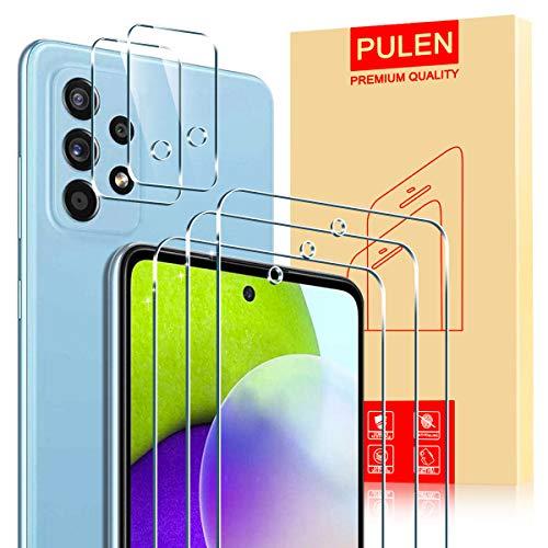 PULEN para Samsung Galaxy A52 4G/5G Cristal Templado Protector de Pantalla (3...