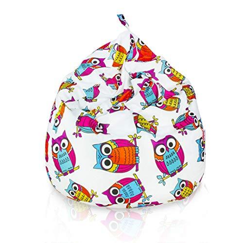 Italpouf - Puff Pera Tela Suave Lavable Infantil L 77 x 90...
