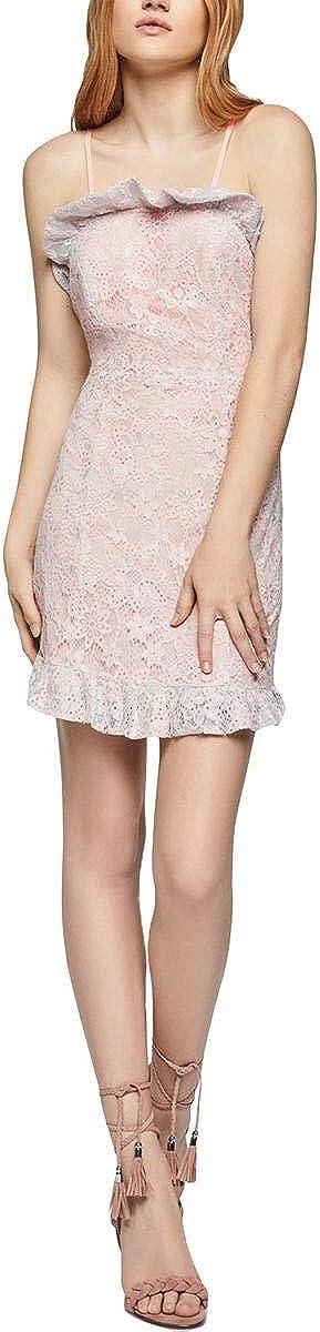BCBGeneration Women's Ruffle Hem Lace Dress