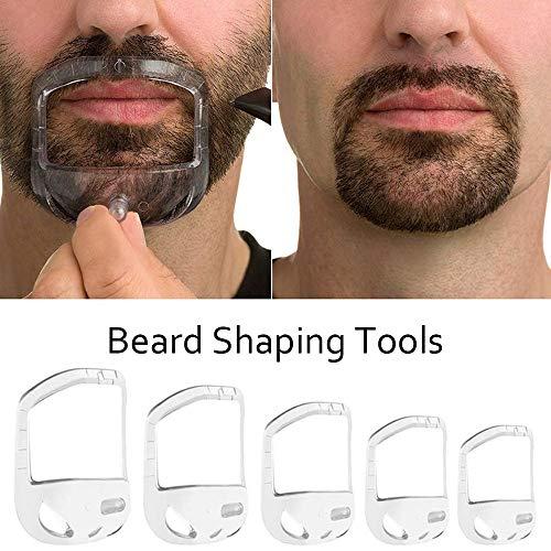 5 STÜCKE Transparent Bart Shaper Styling Werkzeug Verschiedene Größen Gesichts Haar Trimmen Guide Grooming Shaper Haar Lineup Tool Für Mann