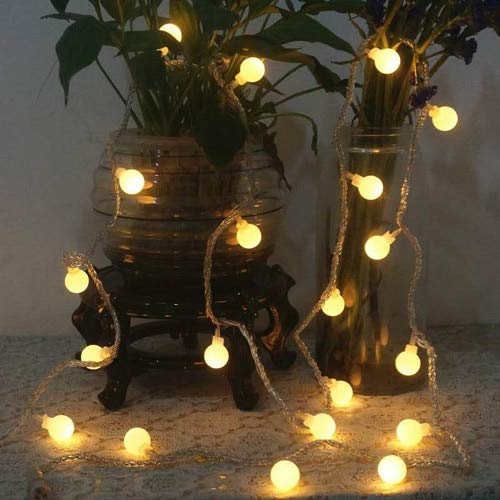Cuento de hadas garland bombilla LED lámpara bombilla eléctrica impermeable decoración navideña cadena de luz usb 3m30 leds
