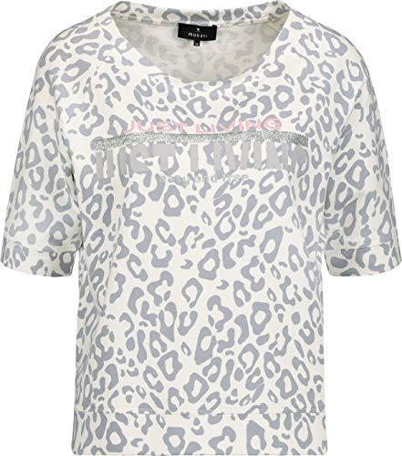MONARI Damen T-Shirt mit Allover-Leo-Print Delphine grau/Weiss - 42