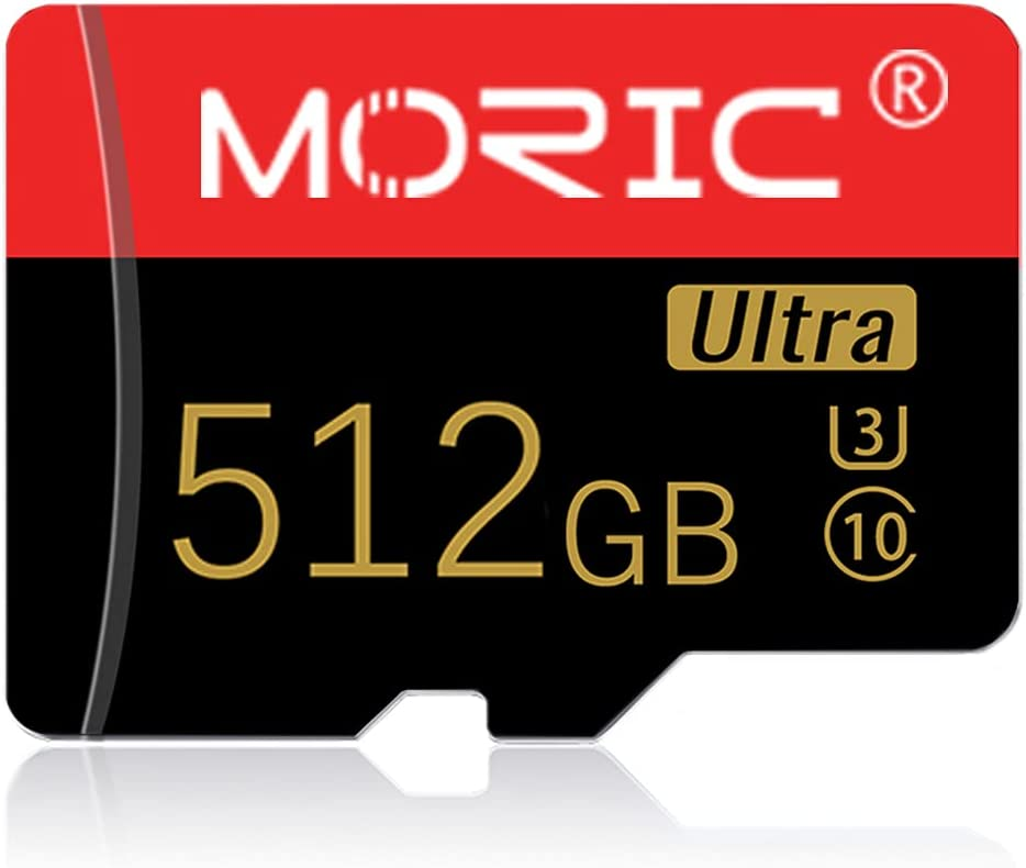 512GB Micro SD Card High Speed SD Card 512GB TF Card Class 10 Memory Card with Adapter for Smartphone