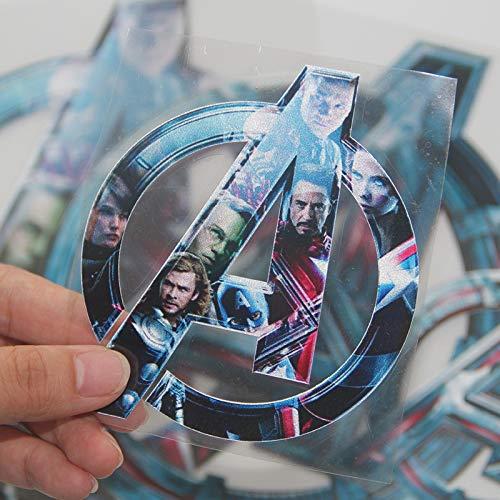BUCUO Vengadores Logo Iron Man Equipo de Belleza Marvel Coche Pegatina Decorativa Coche eléctrico Motocicleta Coche Pegatina Impermeable