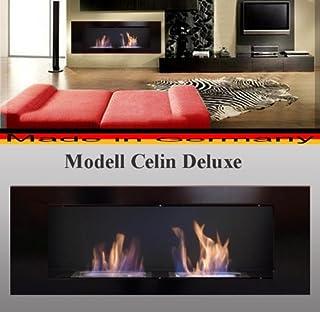Gel y etanol Chimenea modelo Celin Deluxe Negro