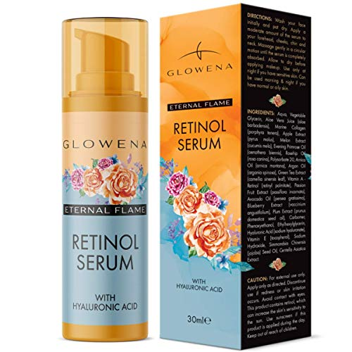 Glowena's Retinol Serum For A Glowing Skin. Premium Anti-Aging Serum With Hyaluronic Acid, Vitamin E, Collagen & Fruit Extracts. Works Best For Fine Lines & Wrinkles. Hydrate & Brighten Your Skin!