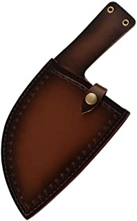 Fendoir pleine Tang Buther Couteau en acier inoxydable Couteau chef serbe de Sharp robuste Lame Poignée ergonomique avec g...