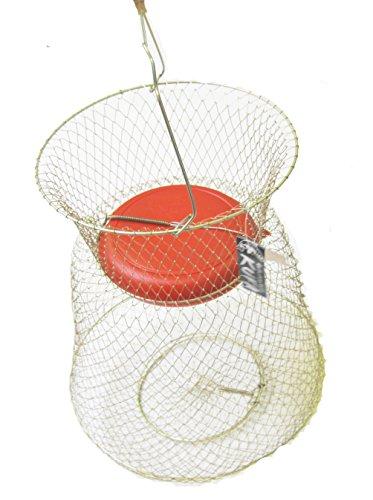 Kufa Sports Schwimmbarer Fischkorb aus verzinktem Stahldraht mit Schwimmer (groß 38,1 x 50,8 cm) rot, Modellnummer: FSA
