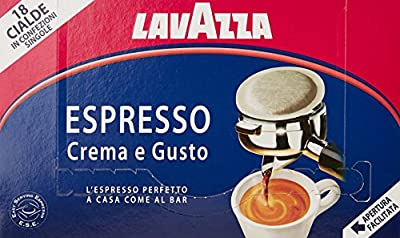 Lavazza Crema E Gusto ESE Espresso 18 Coffee Pods (1 Pack of 18)