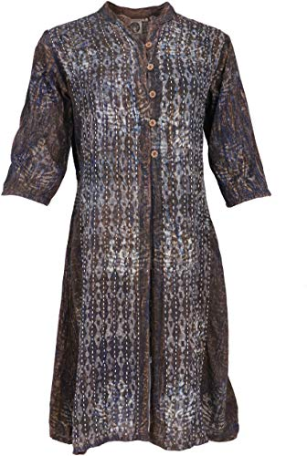 Guru-Shop Boho Tunika, Indische Blusentunika, Damen, Model 1, Synthetisch, Size:M (40), Blusen & Tunikas Alternative Bekleidung