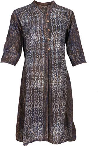 GURU SHOP Tunika, Indische Blusentunika, Damen, Modell 1, Synthetisch, Size:L (42), Blusen & Tunikas Alternative Bekleidung