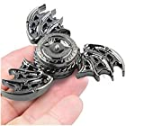 Premium Cool Dragon Snitch Fidget Hand Spinners Metal Fly Wing Focus Toy Stainless Steel Fingertip Gyro Stress Relief Spiral Twister ADHD EDC Toy Party Favors Birthday Gift for Kids Adults(Silver)