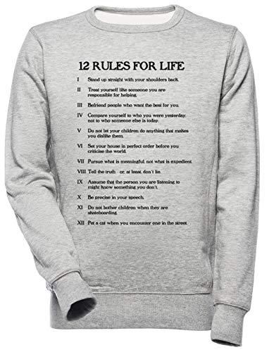 12 Rules for Life Unisex Uomo Donna Felpa Grigio Unisex Men's Women's Jumper