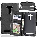 Qiaogle Téléphone Coque - PU Cuir Rabat Wallet Housse Case pour ASUS Zenfone 2 Laser ZE550KL (5.5...