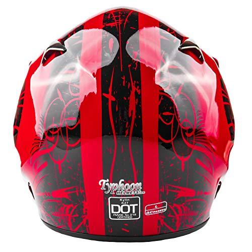 Product Image 1: Typhoon Adult ATV MX Helmet Goggles Gloves Gear Combo