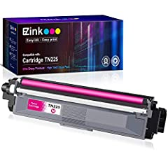 Product Name: E-Z Ink compatible toner cartridges replacement for Brother TN225 Package Contents: 1 x User Guide, 1 x TN225 Magenta (Total 1 Pack) Page Yield: Color is 2,200 Pages per cartridge at 5% coverage Printer Compatibility: Brother HL-3140cw,...
