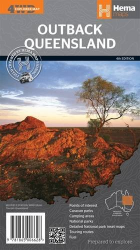 Queensland Outback GPS r/v hema scale: 1/1,5M