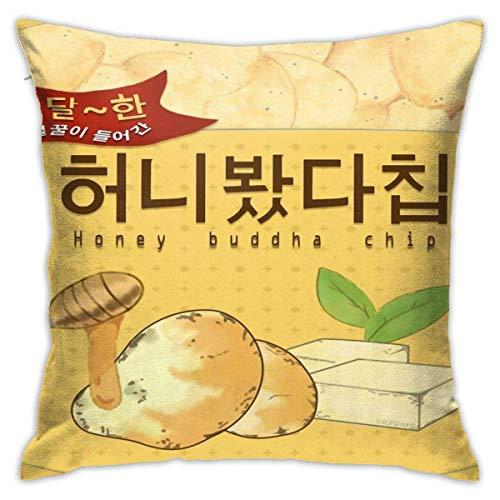Mystic Messenger Honey Buddha Chip Square Pillow Case Throw Pillow Sofa Cushion Car Cushion Decoration