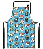 Delantal de cocina para niños con diseño Perfecto para Cocinar Delantales de Cocinero Chefs Sushi [074]