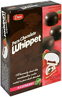 Dare Whippet Cookies, Raspberry, Single Pack (14 Cookies) – Fresh Tasting Raspberry, Rich Chocolate, Heavenly Marshmallow Middle, 8.8 oz Box