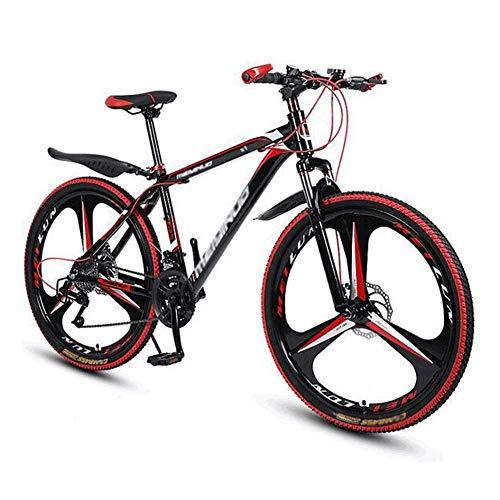 Ping Adult Mountainbike, 26-Zoll-Räder, Mountain Trail Bike High Carbon Steel Outroad-Fahrräder, 27-Gang-Fahrrad Vollfederung MTB-Getriebe Doppelscheibenbremsen Mountainbike