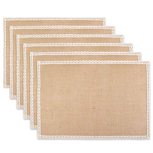 Lacy Jute Antique Placemat for Christmas Parties Wedding Barbecues Special...