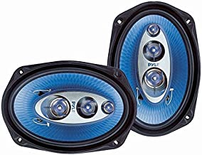 """$33 » 6"""" x 9"""" Car Sound Speaker (Pair) - Upgraded Blue Poly Injection Cone 4-Way 400 Watts w/ Non-fatiguing Butyl Rubber Surroun..."""