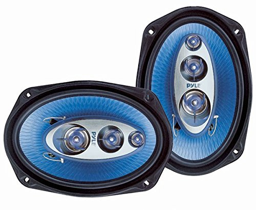 "6"" x 9"" Car Sound Speaker (Pair) - Upgraded Blue Poly Injection Cone 4-Way 400 Watts w/..."