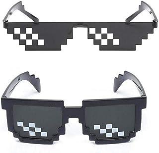 0bbd650745 Second Sunny Paquete de 2 Gafas de Sol para niños Novedad Retro Gamer Gafas  Geek para
