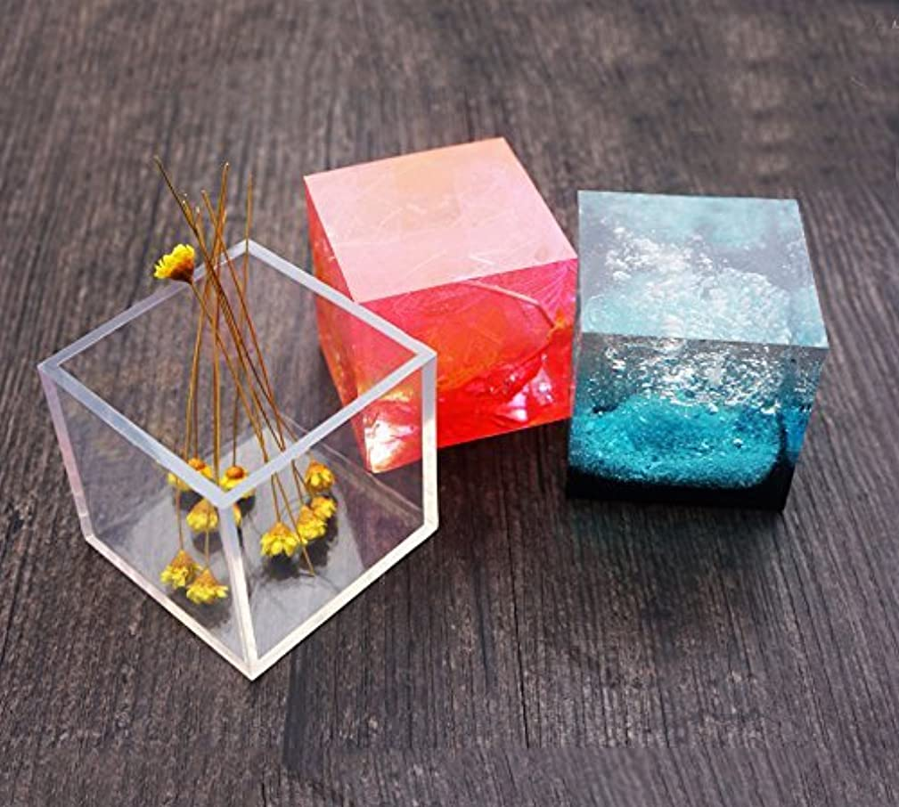 Silicone Pendant DIY Molds Resin Jewelry Making Tools Moulds - Cube Shape Pack of 2