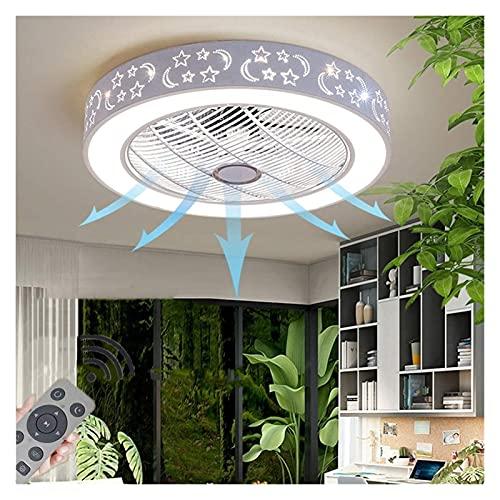 Accesorio de iluminación Un nuevo tipo de luz invisible de luz LED LED LED LED que puede controlar de forma remota la araña del ventilador.Ventilador de techo LED Temperatura de tres colores Dimmable,
