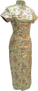 فستان شيونغسام صيني طويل مثير بعشرة أزرار ذهبية من 7Fairy