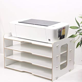 Asdfnfa File cabinets Wooden Multi-Layer Office Bookcase A3 Paper Storage Box Information Box A4 Printer Frame Portable an...