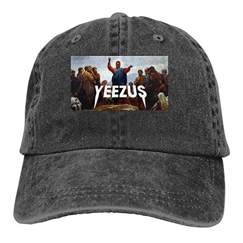 huatongxin Baseball Hat Yeezus Fashion Cowboy-Huts Black with Cap