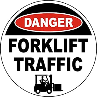 Traffic Signs - Danger Forklift Traffic Floor Sign 12 x 8 Aluminum Sign Street Weather Approved Sign 0.04 Thickness