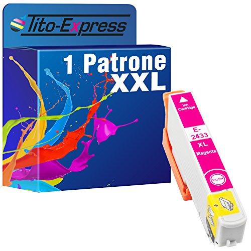 Tito-Express PlatinumSerie 1x Druckerpatrone XXL TE2433 Magenta kompatibel mit Epson Expression Photo XP-55 XP-750 XP-760 XP-850 XP-860 XP-950 XP-960