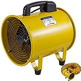 Mophorn Ventilador Portátil 10 Pulgadas Ventilador de Ventilación Portátil 1750-2580M³/H Ventilador Utilitario Perfecto para Áreas Como Fábricas, Lofts y Sótanos (CON MANGUERA DE 5 METROS)