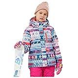Kids Ski Jacket Boys Girls Snowproof Ski Outfit Children Snow Suit Windproof Waterproof Ski Wear Best for Winter Snowboarding, 8-9 Years