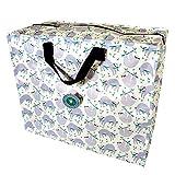 LS-LebenStil XXL Jumbo Bag Recycled Faultier Riesen-Tasche Allzwecktasche Shopper