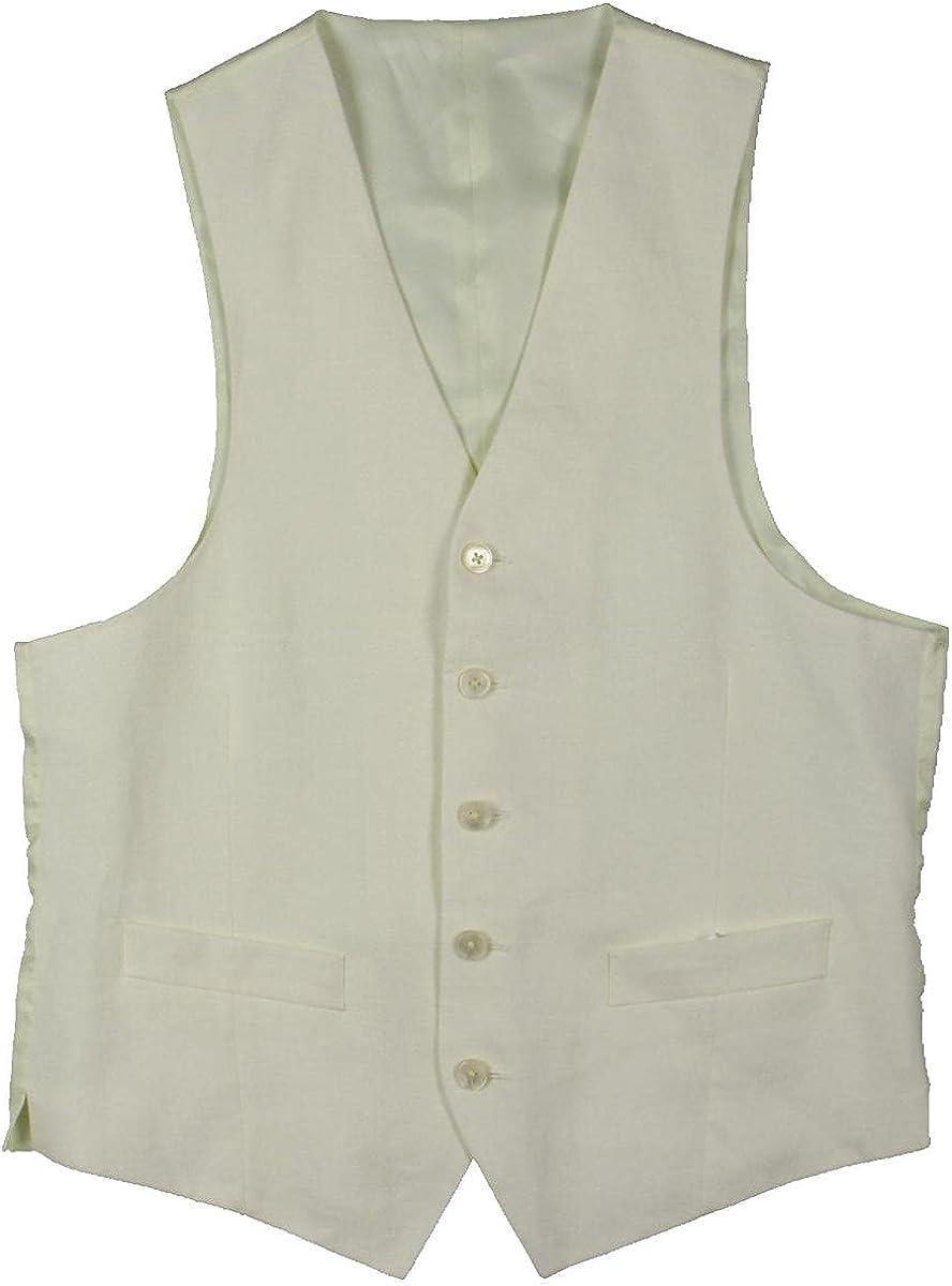 Lauren Ralph Lauren Mens Hitchcock Linen Solid Suit Vest